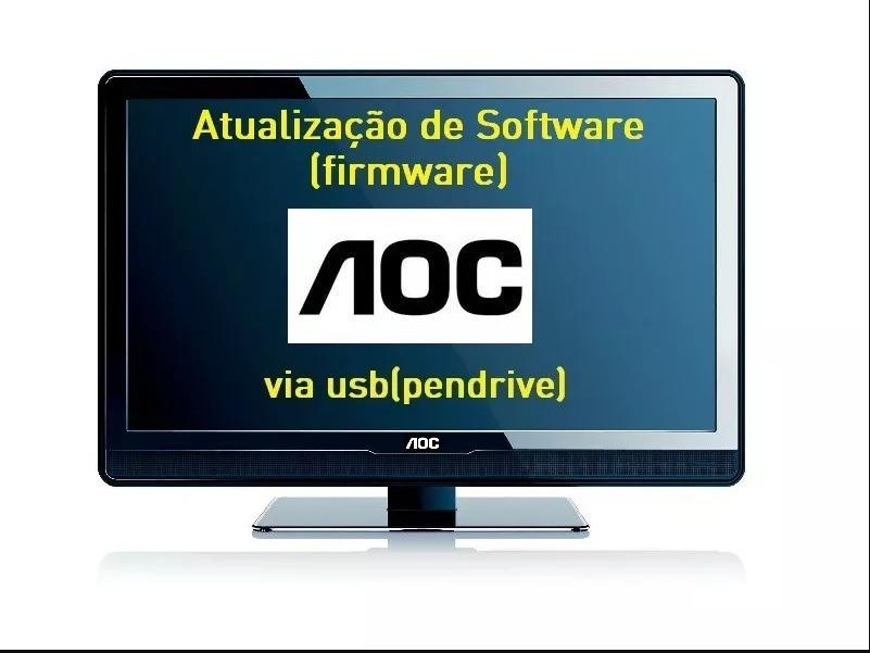 atualização de software firmware tv aoc le43s5760