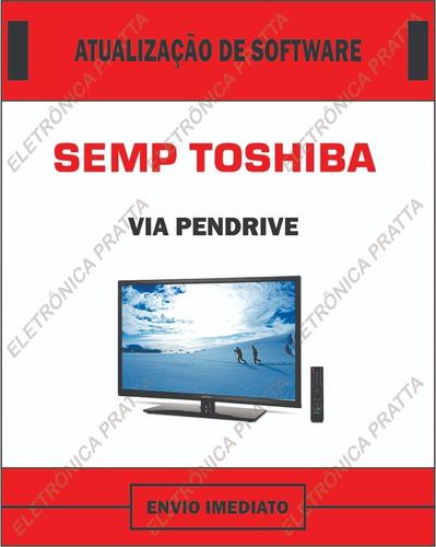 atualização de software para tv semp toshiba 48l5400