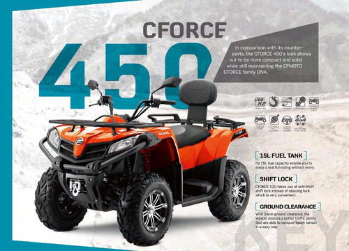 atv cf moto 550 una bestia 2018 super oferta!!