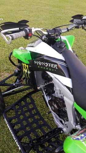 atv kawasaki kfx 450 r competicion green team usa unico !!