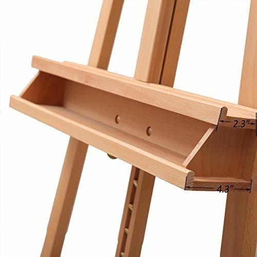 atworth - caballete de estudio grande ajustable de madera de
