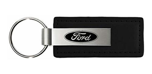 au-tomotive gold logotipo de ford cuero negro llavero