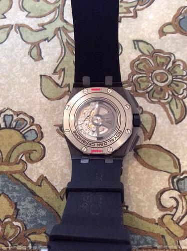 audemars piguet todo carbono 44mm cronografo, mov, suiço