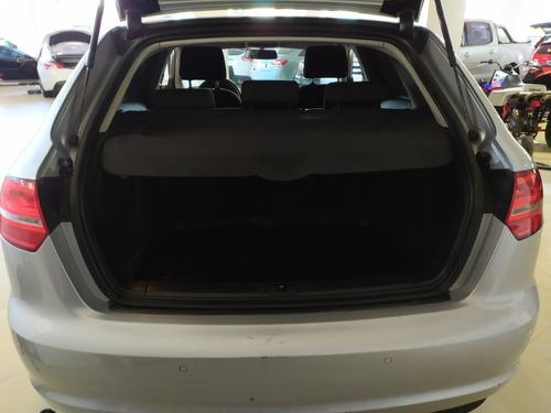 audi a3 1.4 tfsi sportback nafta año 2013 c/cuero gris plata