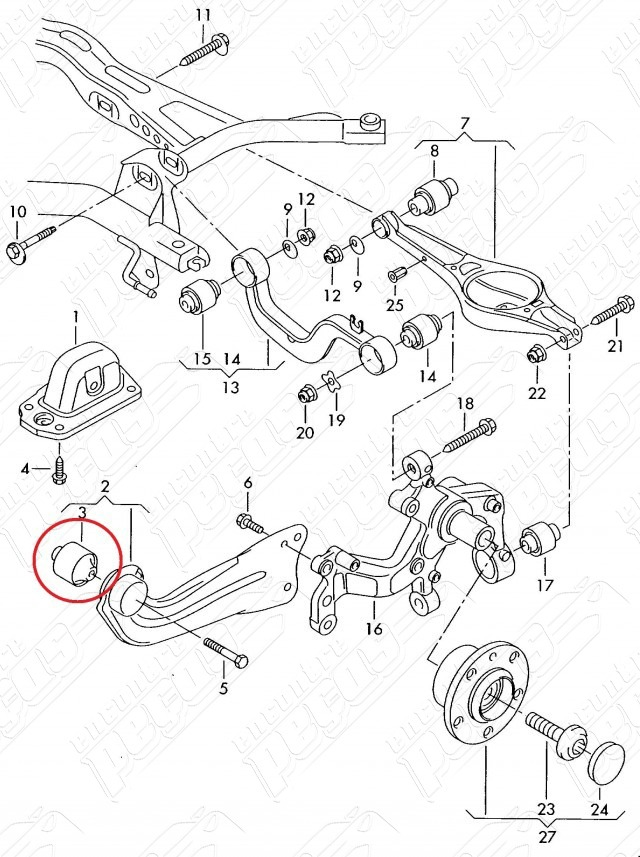 Audi A3 1 8 Turbo 13 18 Original Bucha Suspensao Traseira