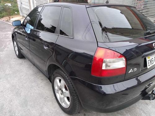 audi a3 azul gasolina 2003 automática completa - aceito prop
