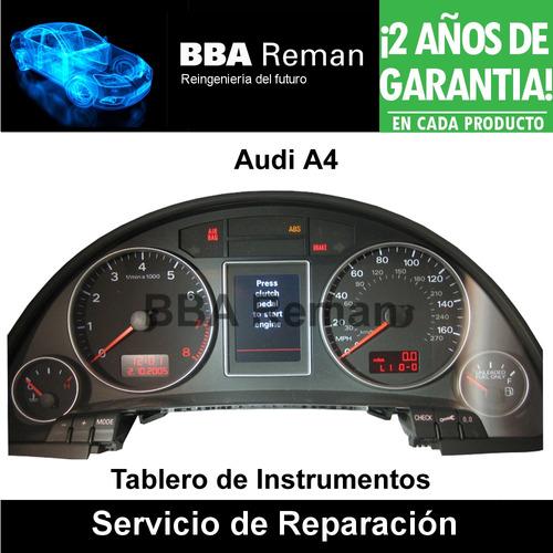 audi a4 2005 2008 tablero cuadro instrumentos reparacion