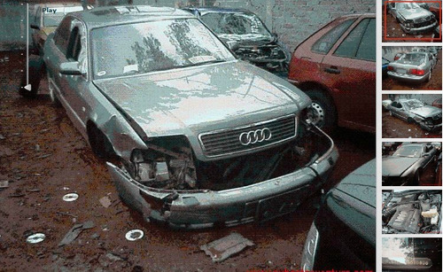 audi a8 accidentado chocado por partes