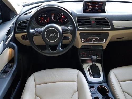 audi q3 2.0 turbo 4x4 2016 branca couro bege 25.000 km nova!