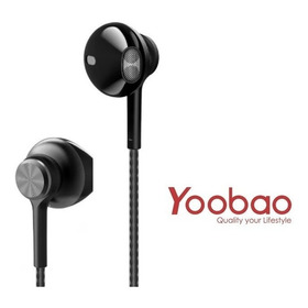 Audifono 3.5mm Marca Yoobao Mod Ybl-2 Black