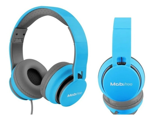 audifono acteck on-ear con microfno urban kaos azul mb-91636