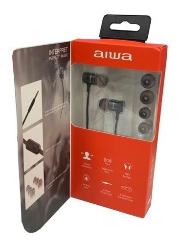 audífono aiwa alámbrico aw-i100 - phone store