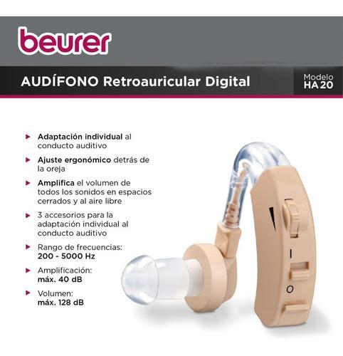 audifono amplificador beurer importado ha20 hipoacusico oido