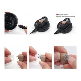 Audífono Amplificador Sordera + Base De Carga Ayuda Auditiva