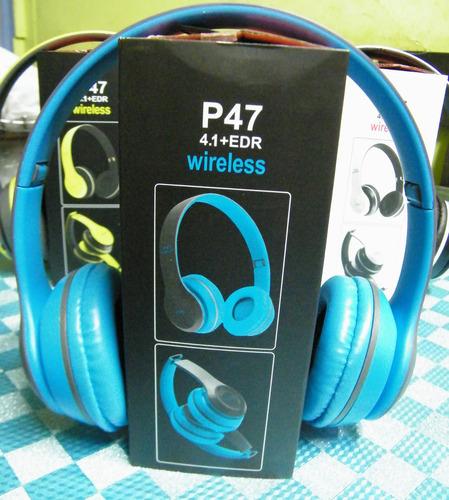 audifono bluetooh p47,radio fm,micro sd,hands free