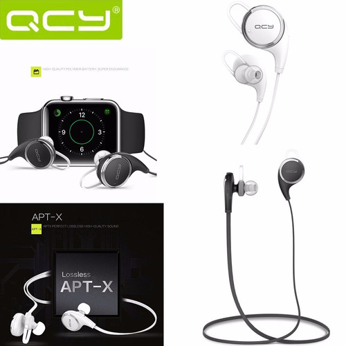 audifono bluetooth 4.1 qcy qy8 + estuche qcy original