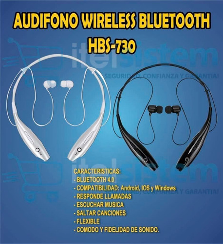 audifono bluetooth hbs 730 wireless handsfree itelsistem