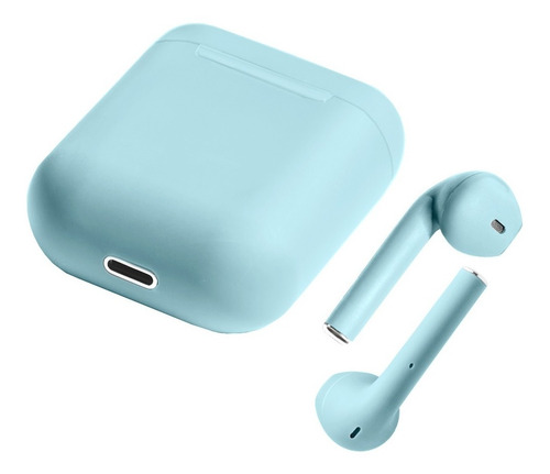 audifono bluetooth i12 manos libres air pods apple 4 colores bocina inalambrico bt 5.0 tws plastico engomado enlace auto