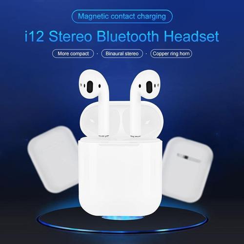 audífono bluetooth i12 - tws inalámbrico