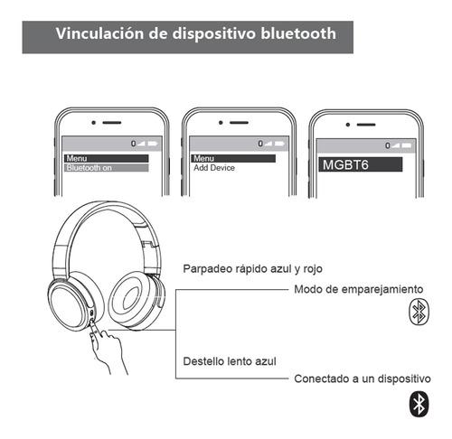 audífono bluetooth master g mgbt6 batería 500 mah