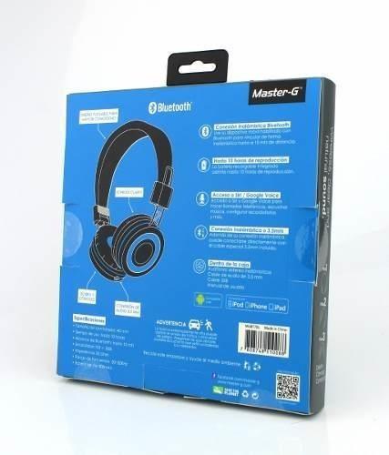 audífono bluetooth master g mgbt7bl batería 300 mah