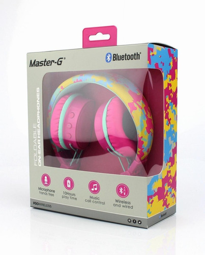 audífono bluetooth over ear master g mgbt20p