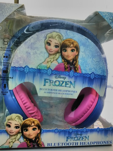 audifono bluetooth sakar disney frozen ¡original!