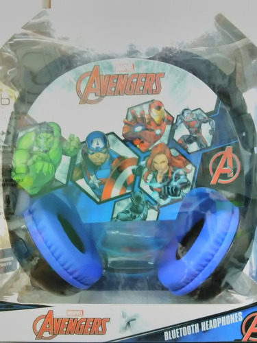 audifono c/microf bluetooth sakar disney avengers  original