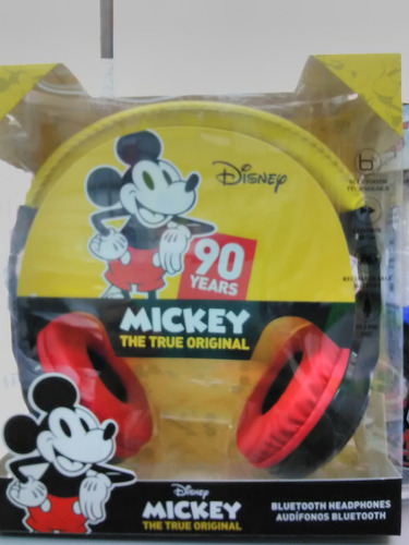 audifono c/microf bluetooth sakar disney mickey original