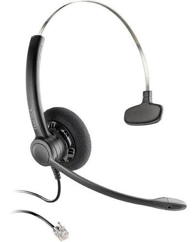 audifono con microfono de diadema plantronics sp11 rj9