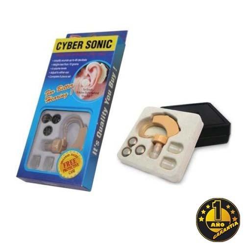 audifono cyber sonic para sordo c/pila y estuche 1 año gtia
