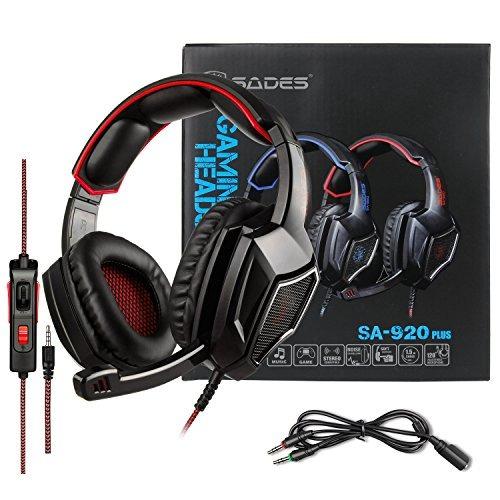 audífono de juego sades sa920 cableado c/micrófono p/ps4 y+