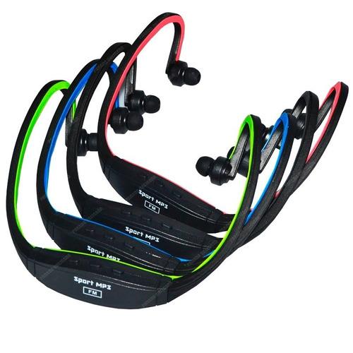 audífono deportivo sport mp3 micro sd res agua