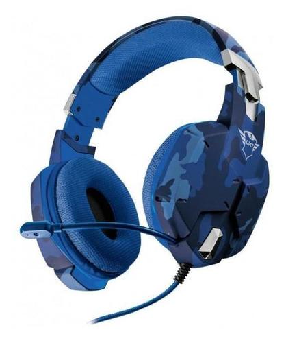 audifono diadema gamer trust gxt 322b carus azul camo