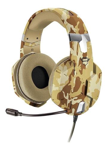 audifono diadema gamer trust gxt 322d carus desert camo 3.5