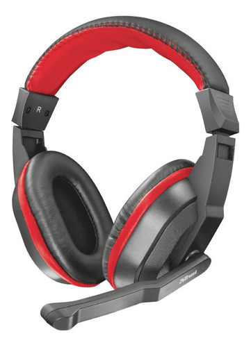 audifono diadema gamer trust ziva 3.5 mm negro incluye conve