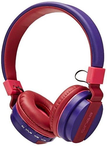 audifono dj bluetooth hf c/radio urban rosa-morado tm