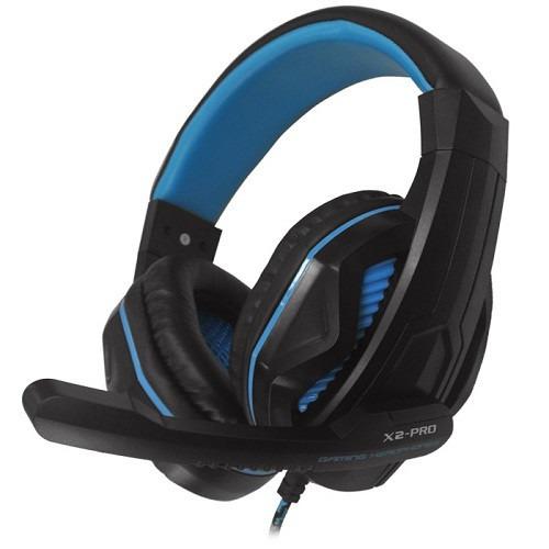 audífono gamer halion x2 pro con luces led azul