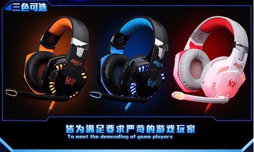 audífono gamer kotion each g2000 original + ps4  adaptador