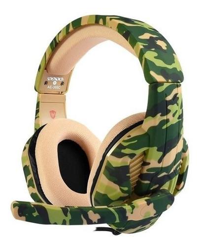 audífono gaming auricular microfono camuflaje x mayor !!!