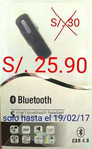 audífono handsfree bluetooth csr 4.0