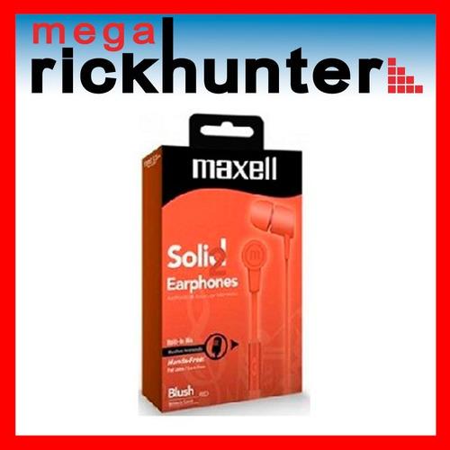 audifono handsfree maxell solid 2 earphones c ruidos naranja