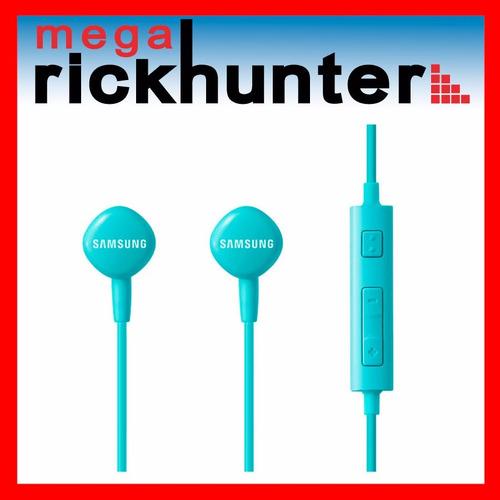 audifono handsfree samsung hs130 control volumen azul