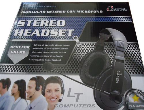 audifono headset omega en cuerina