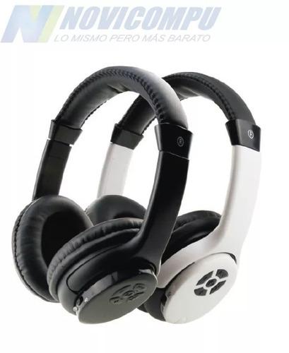 audífono inalámbrico con tf card, radio fm, negro y blanco
