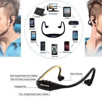 audífono inalambricos bluetooth s9 v3.0 micro sd radio fm