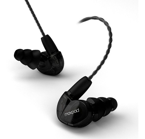 audífono inear monitor personal moxpad x6 aisla/ negro 12msi