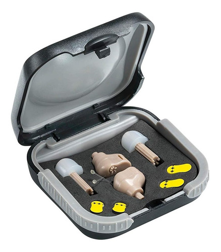 audifono invisible amplificador de sonido para sordos 2 unid