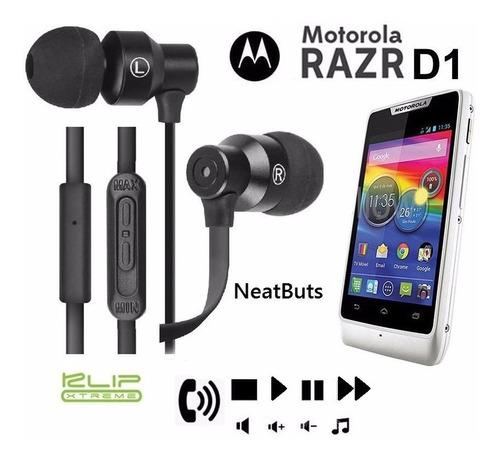 audifono klip x control total y microfono motorola razer d1