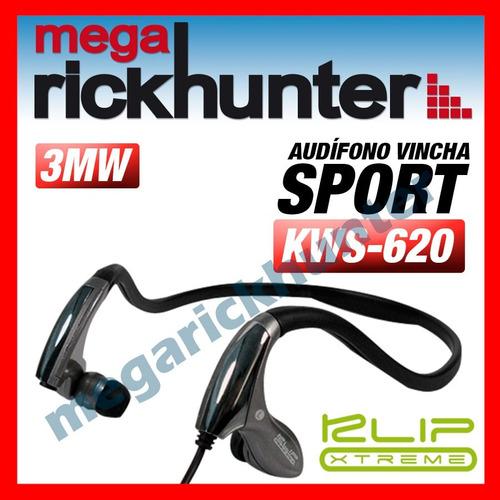 audifono klip xtreme vincha sport khp-440 negro
